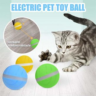 Activation Ball jouet pour animaux de compagnie, Magic Roller Ball USB Flash électrique LED 360 degrés Self Rotating Dog…
