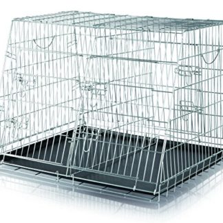 Trixie – 3930 – Cage de transport double – 93 x 68 x 79 cm