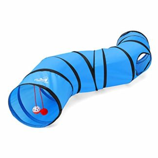 Pawaboo Tunnel Chat, Jouet Interactif Tube Chat Pompon Cloches Chat Chiot Chaton Lapin