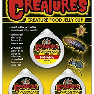 Zoo Med Creatures Food Jelly Cup Assorted Banana-Brown Sugar-Nectar