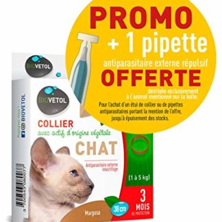 Biovetol Collier Insectifuge Non Bio pour Chat