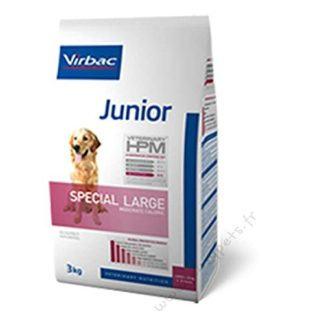 Virbac Veterinary HPM Vet Dog Junior Spec L Nourriture pour Chien 12 kg
