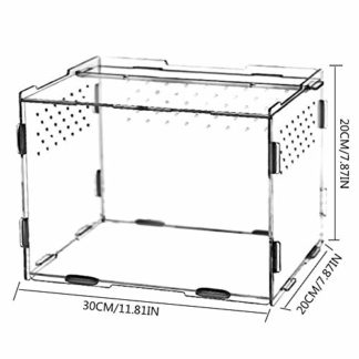 EZIZB Reptile Breeding Box Acrylique Transparent Pet Reptile Box Acrylique Reptile Terrarium Petit Pet Reproduction…